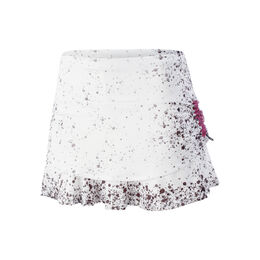 Splatter Ruched Tier Skirt